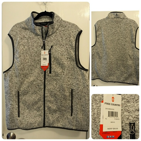 8679811647021 Free Country Men s Grey XL Sweater Vest – NWT